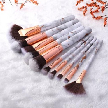 FLD 10 Pcs Professional Makeup Brush Set Full Function