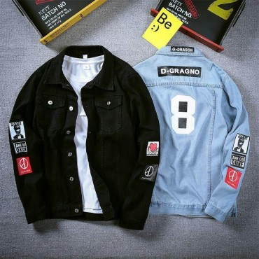 DENIM JACKET _2020 NEW MEN'S DENIM JACKET KOREAN FASHION